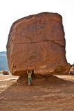 Monument Valley, child has fun by Stock Image