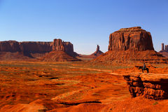 Monument Valley Cowboy On Horseback Stock Image