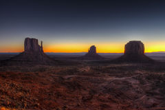 Monument valley at dawn, navajo nation Stock Photos