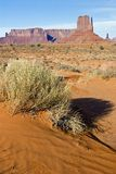 Monument Valley desert. Monument Valley Navajo Tribal Park, Utah Royalty Free Stock Photos