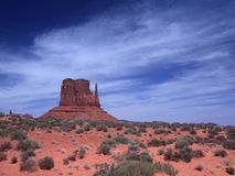 Monument Valley and desert  in Arizona Stock Photo