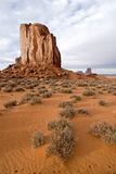 Monument Valley desert butte. Monument Valley Navajo Tribal Park, Utah Royalty Free Stock Image