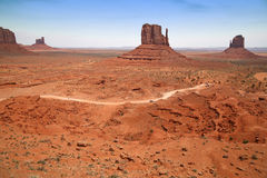 Monument Valley, desert canyon in Utah, USA Stock Image