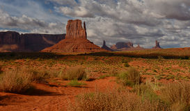 Monument Valley desert monuments Stock Images