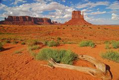 Monument Valley desertscape Stock Images