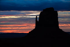 Monument valley detail sunrise Royalty Free Stock Photography