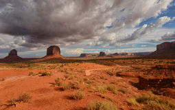 Monument Valley dirt road Stock Image