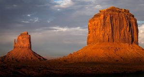 Monument Valley. East Mitten Butte and Merrick Butte, Monument Valley Navajo Tribal Park Royalty Free Stock Image