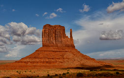 Monument Valley famous left mitten monument from old west Stock Images
