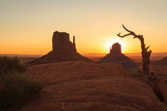 Monument Valley golden sunrise Royalty Free Stock Image