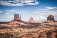 Monument valley in high dynamic range Royalty Free Stock Photos