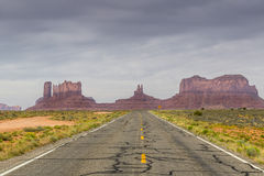 Monument Valley Highway Royalty Free Stock Photography