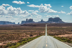 Monument Valley. Highway 163 with Monument Valley, Utah,  in the Background Stock Photography
