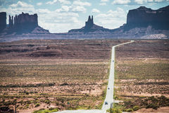 Monument Valley. Highway 163 with Monument Valley, Utah,  in the Background Royalty Free Stock Photography