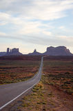 Monument Valley, highway 163, Utah, evening sunshine Stock Images