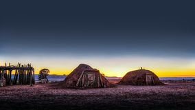 Monument valley historic Indian Huts Utah royalty free stock image