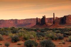 Monument Valley Hoo Doos Stock Photo