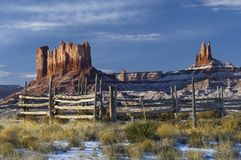 Monument Valley and Horse Corral Royalty Free Stock Images