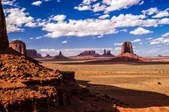 Monument Valley Iconic  Landscape Stock Photo