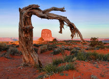 Monument Valley Landscape. Beautiful Monument Valley Landscape at Sunrise Royalty Free Stock Photos