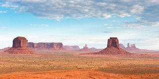 Monument Valley landscape aerial sky view Stock Images