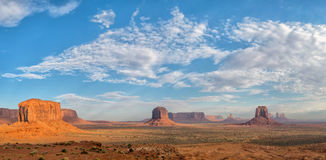 Monument Valley landscape aerial sky view Royalty Free Stock Image