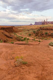 The Monument Valley landscape in the evening Royalty Free Stock Photography