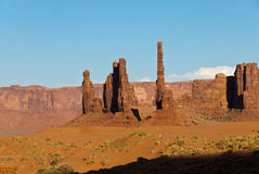 Monument Valley landscape. Scenic landscape showing eroded rock formations in Monument Valley, Utah, U.S.A Royalty Free Stock Images