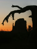 Monument Valley Landscape Silhouette Stock Photography