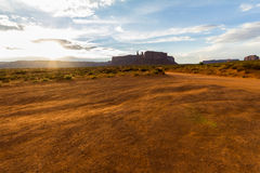 The Monument Valley landscape at sunset Royalty Free Stock Photos