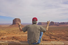 Monument Valley Mediation Stock Images