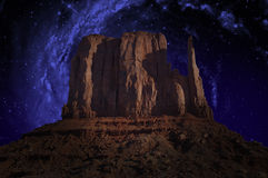 Monument Valley, Milky Way, Stars Stock Photos