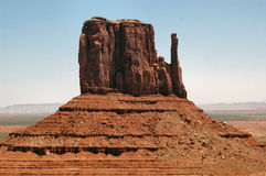 Monument Valley Mitten. Viewed from Visitors Centre Stock Photo