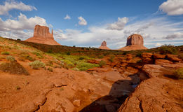 Monument Valley mitten monuments Stock Photo
