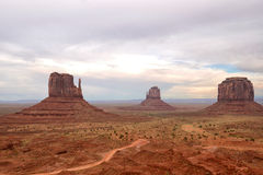 Monument  Valley Mitten Monuments Royalty Free Stock Photo