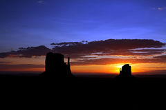 Monument Valley - The Mittens Stock Images