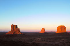 Monument Valley - Mittens - HDR at Sunset royalty free stock images
