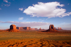 Monument Valley Mittens morning view Utah Royalty Free Stock Photo