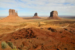 Monument Valley: the Mittens Stock Photos