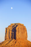 Monument Valley with moon Stock Image