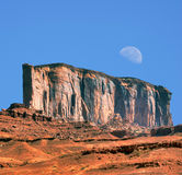 Monument Valley Moon Stock Photography