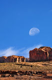 Monument Valley Moon Rise Stock Photos