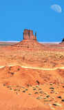 Monument Valley Moonrise Stock Photos