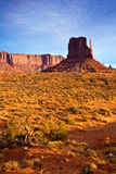 Monument Valley Morning. West Mitten butte in Monument Valley Tribal Park, Arizona Stock Photo