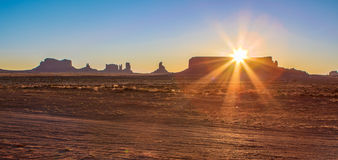 Monument Valley National Park. Amazing Sunrise Image of Monument Valley stock photos