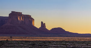 Monument Valley National Park. Amazing Sunrise Image of Monument Valley royalty free stock photo