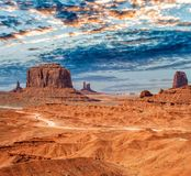 Monument Valley National park on a beautiful summer day.  stock photos