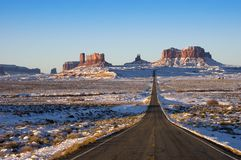 Monument Valley Navajo Indian Tribal Park Approach royalty free stock photography