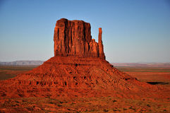 Monument Valley Navajo Indian Tribal Park Panorama. View the Monument Valley from Navajo Indian Tribal Park Visitor centre, Utah and Arizona royalty free stock photography