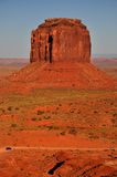 Monument Valley Navajo Indian Tribal Park Panorama. View the Monument Valley from Navajo Indian Tribal Park Visitor centre, Utah and Arizona Stock Photography